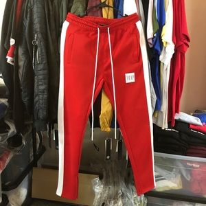Trap Track Pants - Red/White